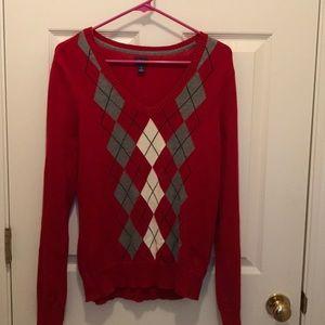 Womens Izod argyle sweater